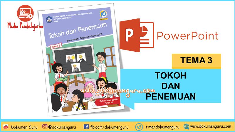 [Download] Media Pembelajaran PowerPoint Kelas 6 SD Tema 3 Tokoh dan Penemuan