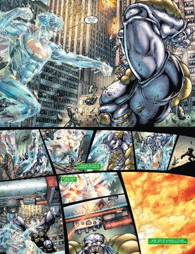 Superman vs The Parasite in Superman: Earth One