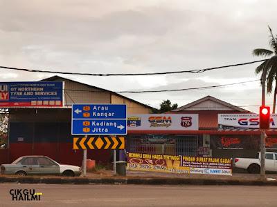 Simpang Guar Sanji nak menuju ke Kodiang