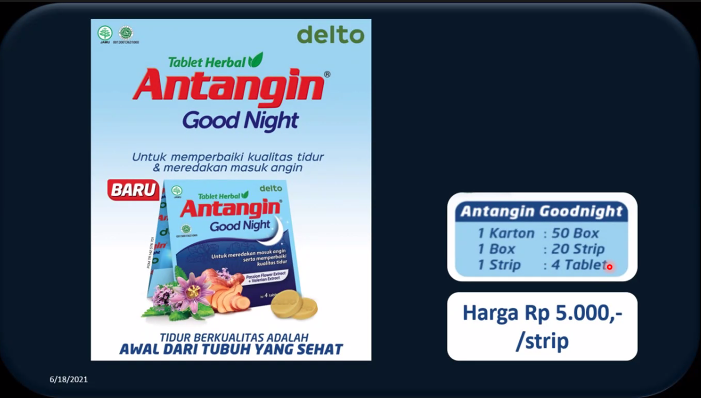 Tablet Herbal Antangin Good Night PT Deltomed Laboratories