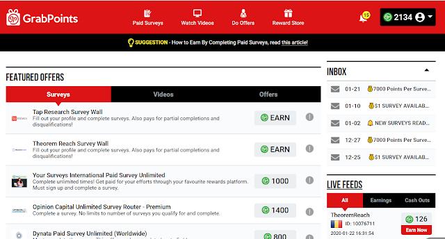 Grabpoints से घर बैठे आसानी से पैसे कैसे कमाए | Earn Money Online