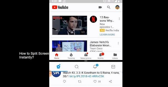 split screen in Google Pixel