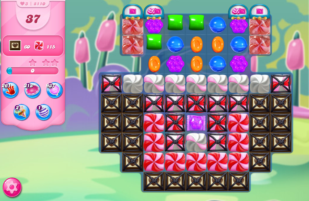 Candy Crush Saga level 8110