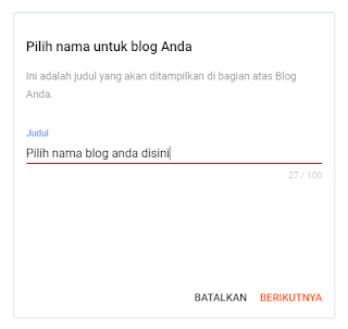 """login ke blogger.com kemudian pilih nama blog sesuai keinginan anda lalu klik """"berikutnya"""""""
