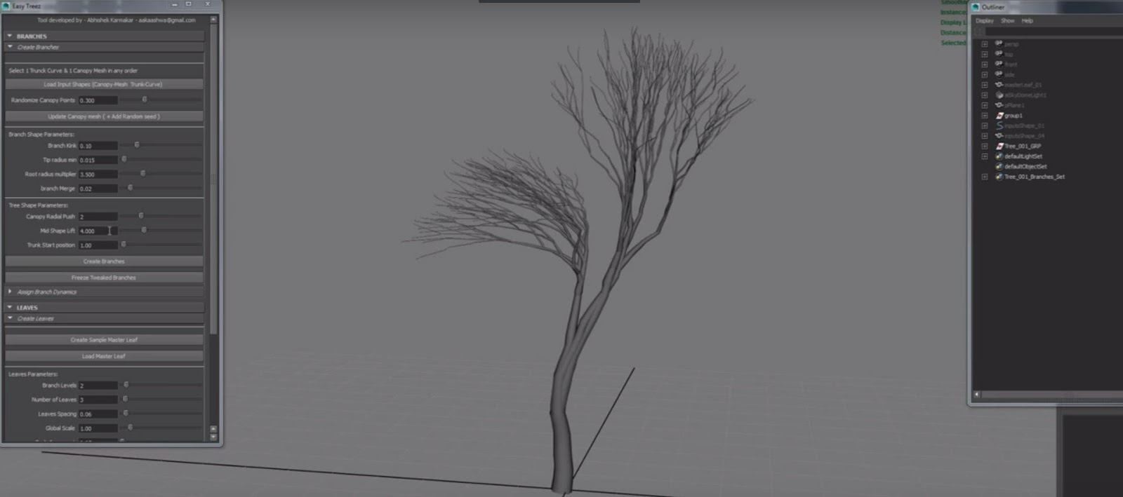 Easy Treez V1 0 for Maya - Plugins Reviews and Download free