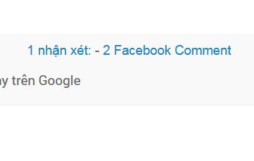 Thêm tổng số nhận xét Facebook vào Blogger