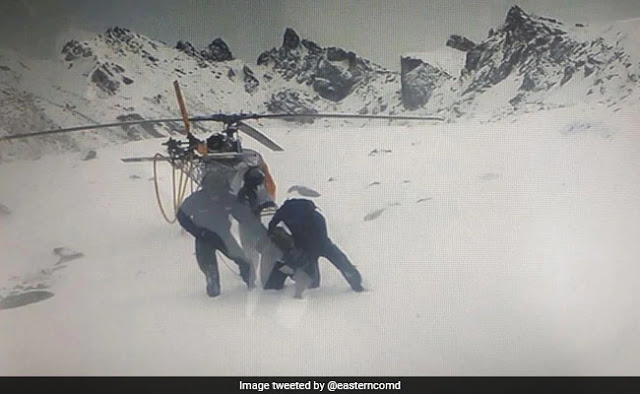 Army, Air Force Rescue Helicopter Crew Stuck In Inclement Weather In Sikkim