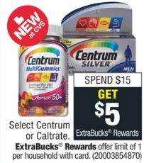 Cheap Centrum Vitamins CVS Coupon Deals 915-921