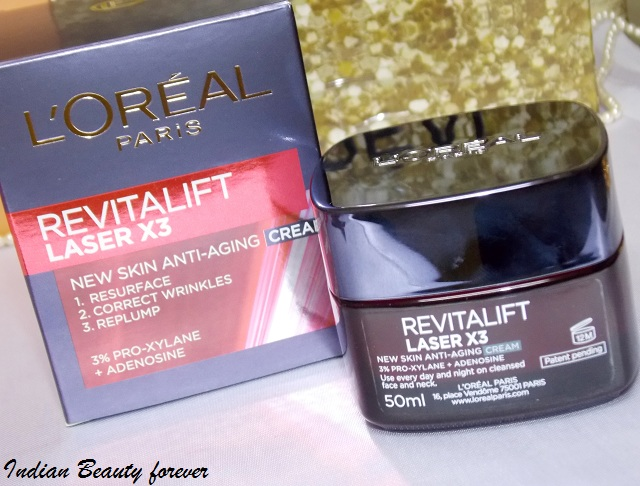 L'Oreal Paris Revitalift Laser x3 Renew Cream Review price and how to use