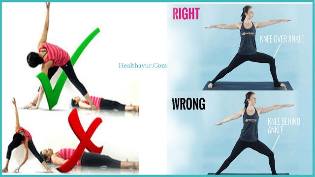 wrong yoga pose