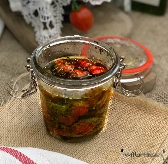 como preparar tomates cherries confitados