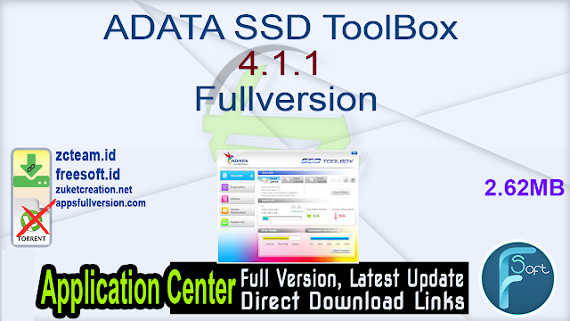 ADATA SSD ToolBox 4.1.1 Fullversion