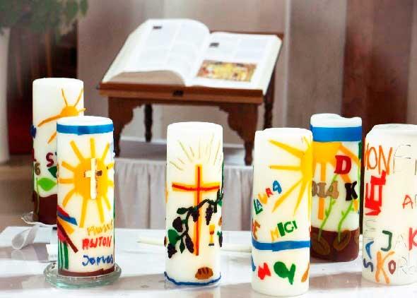 decoupage velas, velas religiosas, manualidades mágicas, enrhedando