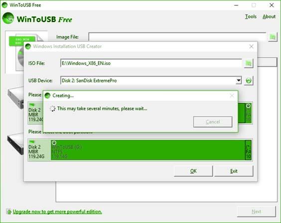 كيف يمكنني استخدام WinToUSB مجانا