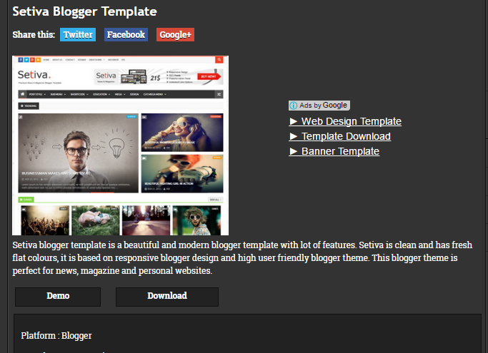 free blogger blog template