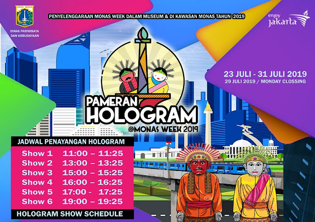 jadwal pameran hologram, monas week 2019