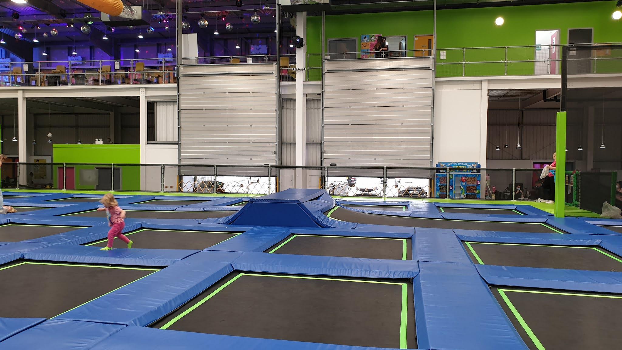 jump in trampoline area