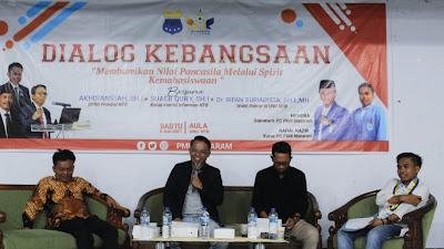 Gelar Dialog Publik, PMII Kota Mataram Kupas Makna Pancasila dari Berbagai Perspektif
