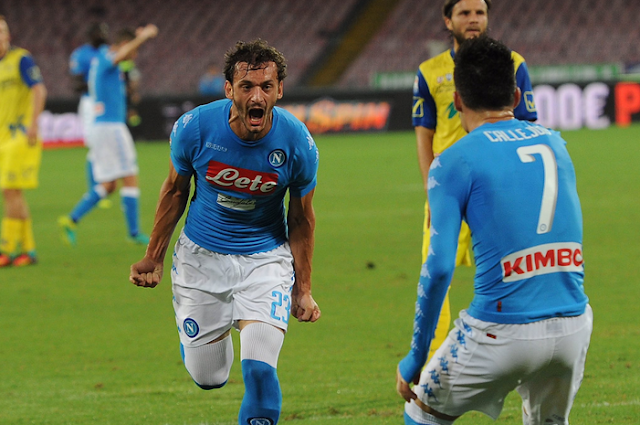 Selebrasi goll kedua Napoli kontra Chievo