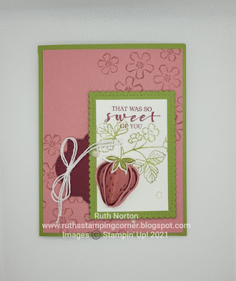 stampin up, sweet strawberry