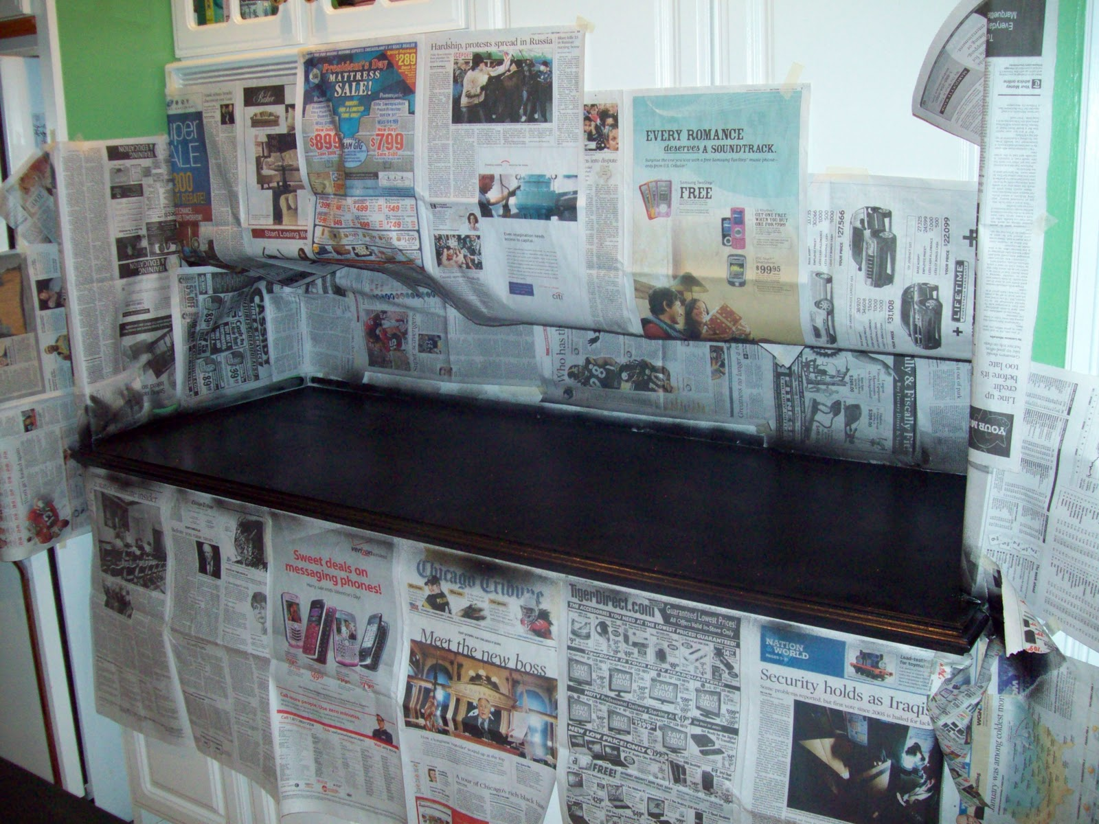 Remodelaholic | Painted Formica Countertop