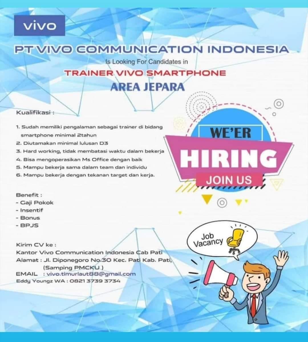 Lowongan Kerja Vivo Communication Indonesia Membuka Lowongan Kerja