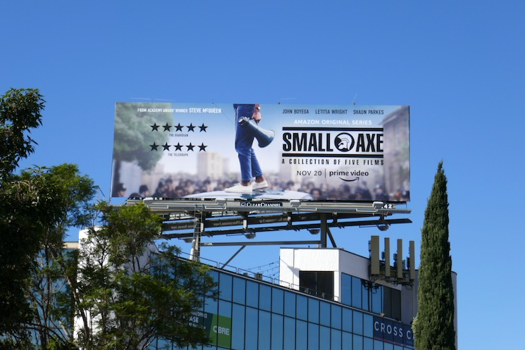 Small Axe Amazon billboard
