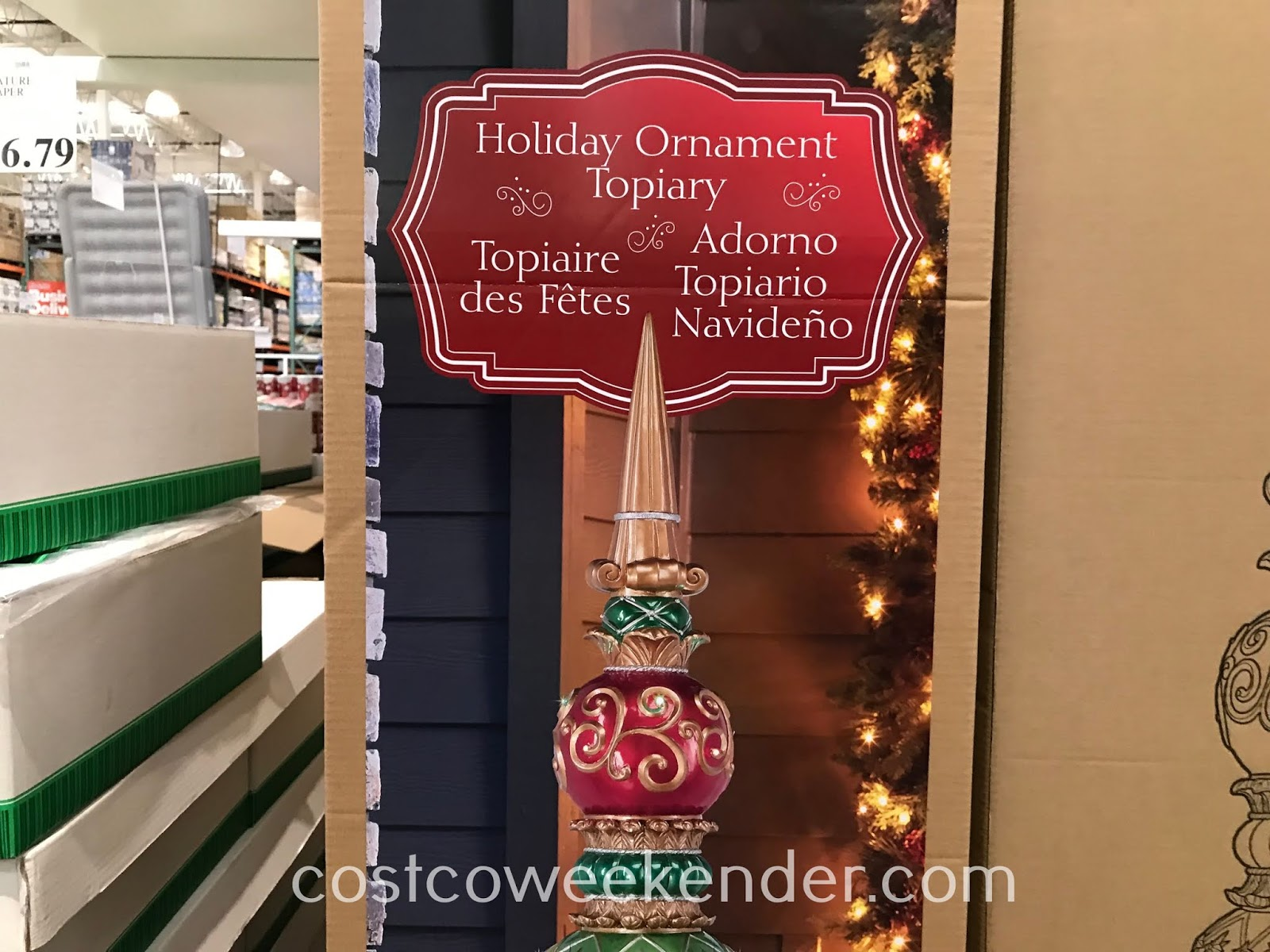 Costco 1900339 - Holiday Ornament Topiary: great for the holidays
