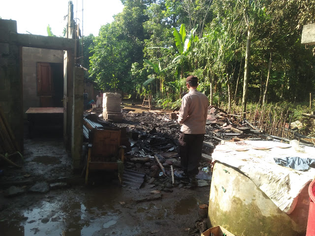 Rumah Warga di Mrebet Purbalingga Terbakar, Akibat Tungku Belum Sepenuhnya Padam