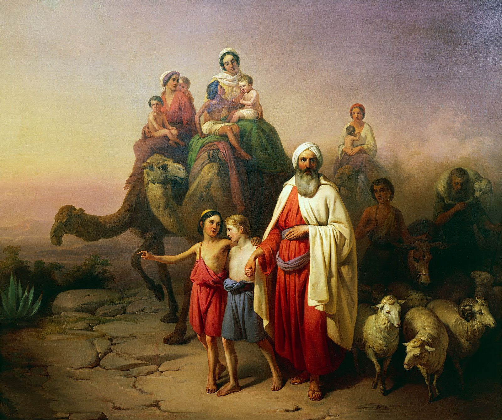 The story of Abraham is told in Genesis, the first book of the Bible.