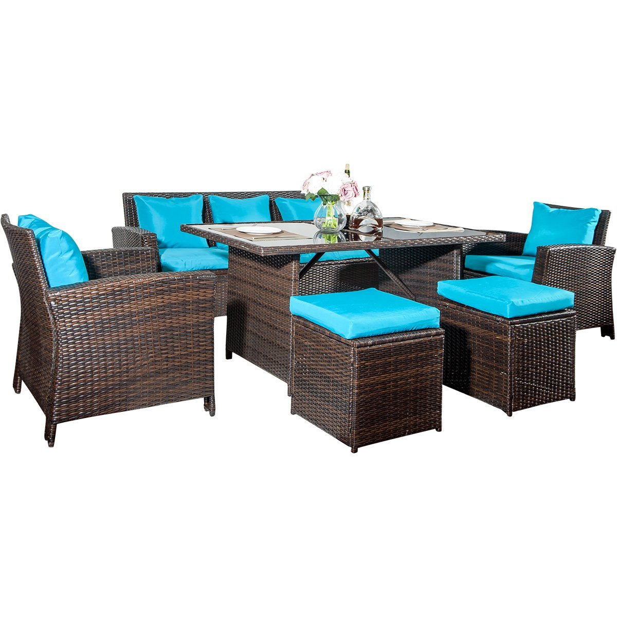 Luxury Furniture Review: Merax 6- Piece Patio Furniture ... on Fine Living Patio Set id=81491
