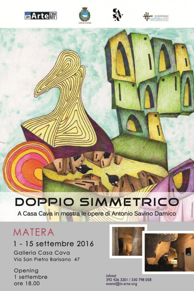 Doppio simmetrico: a Casa Cava in mostra le opere di Antonio Savino Damico