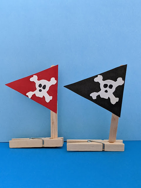 pirate ship craft using a clothespin
