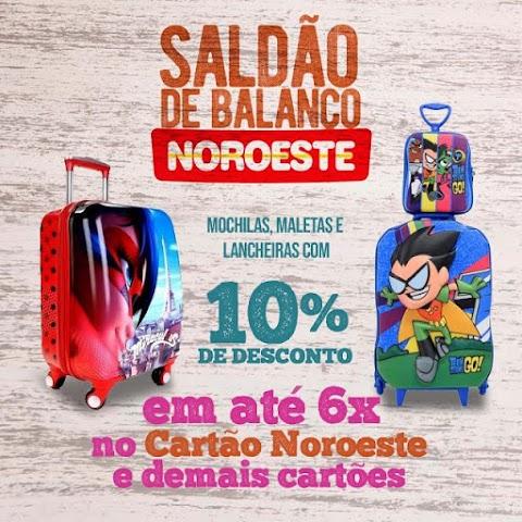 SALDÃO DE BALANÇO de material escolar nas LOJAS NOROESTE em Pedreiras