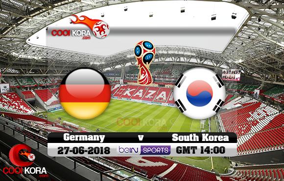 مشاهدة مباراة ألمانيا وكوريا الجنوبية اليوم 27-6-2018 بي أن ماكس كأس العالم 2018