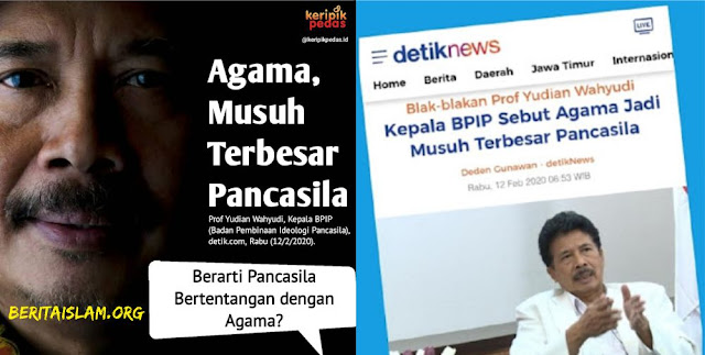 BPIP agama musuh terbesar Pancasila