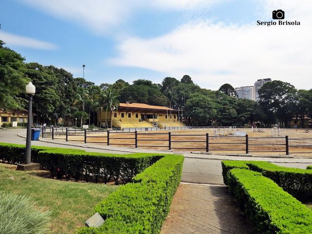 Vista de parte da Arena de Equitação do Parque da Água Branca - São Paulo