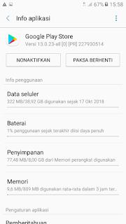 Google Playstore tidak bisa download dan loading terus