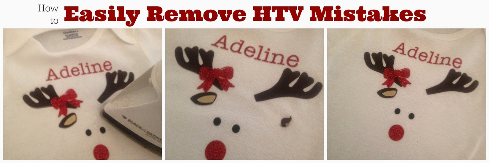 HTV mistakes, remove HTV mistakes, HTV, heat transfer vinyl