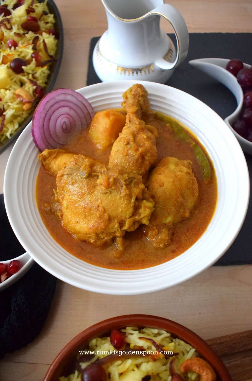 Chicken Curry recipes, Home-style chicken curry, Easy chicken curry, chicken curry recipe indian, authentic chicken curry recipes, spicy chicken curry recipes, Bengali chicken curry, chicken recipes, Indian recipes, Rumki's Golden Spoon