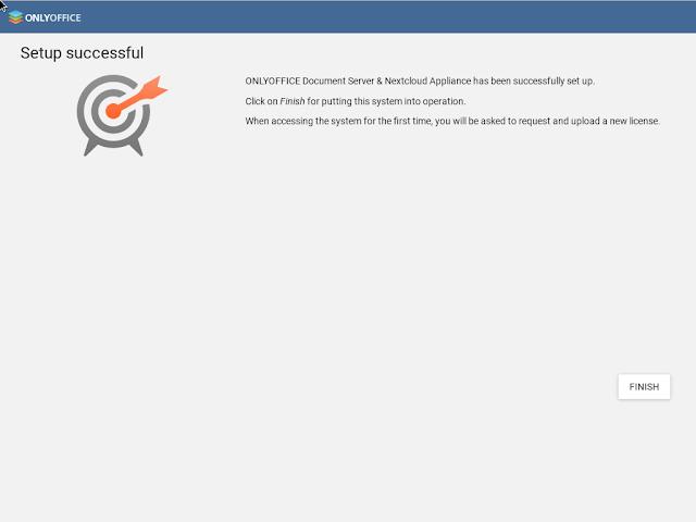 Τέλος εγκατάστασης Onlyoffice - Nextcloud