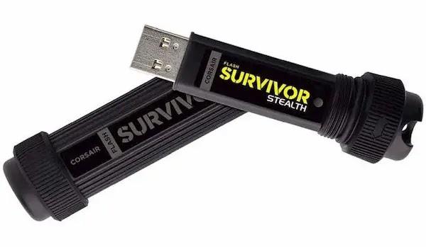 Corsair Flash Survivor Stealth USB Flash Drive