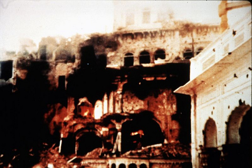 Operation Blue Star., Demolished Temple