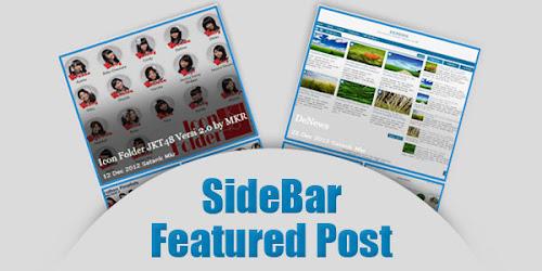Sidebar Featured Post dengan CSS dan jQuery