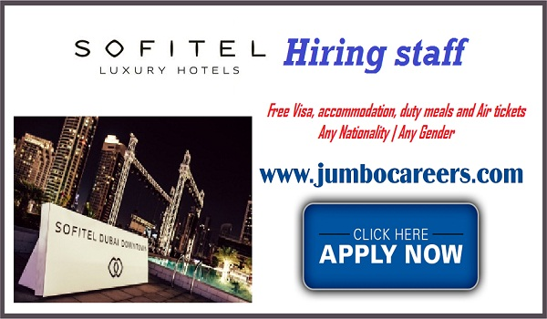 Hotel jobs in Dubai, 5 Star hotel jobs with accommodation in Dubai,