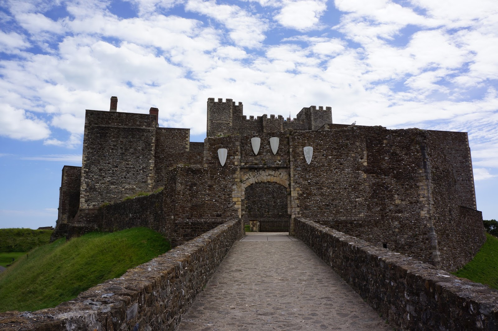 the bridge over moat at dover castle