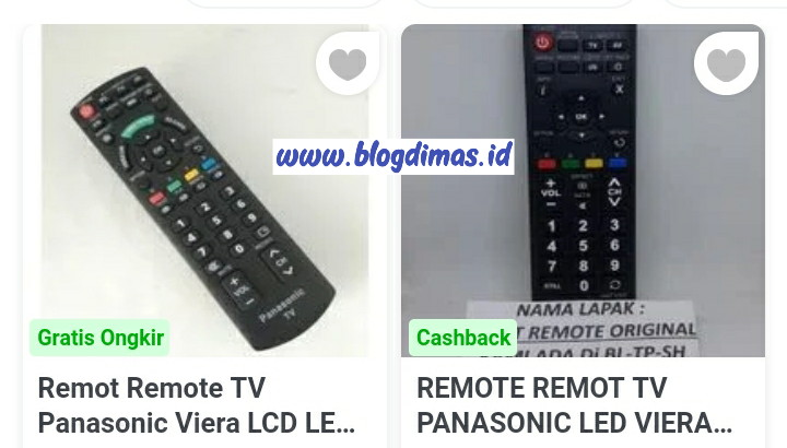 Kode Remot TV Panasonic