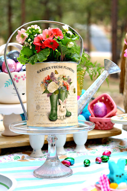 floral, centerpiece, outdoor, Easter, tablescape, athomewithjemma.co,