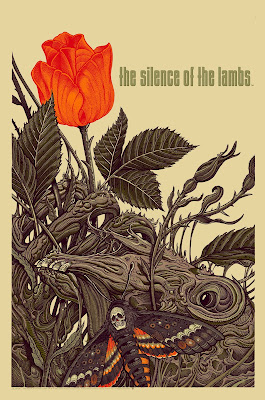 Silence of the Lambs Standard Edition Screen Print by Florian Bertmer