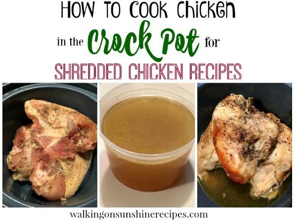 how to make shredded chicken in crockpot